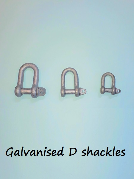 "Galvanised D Shackle 1/2"" x 5/8"""